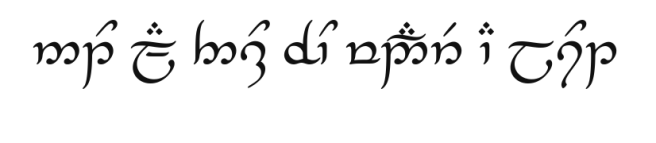 Not All Those Who Wander Are Lost (in Tengwar)